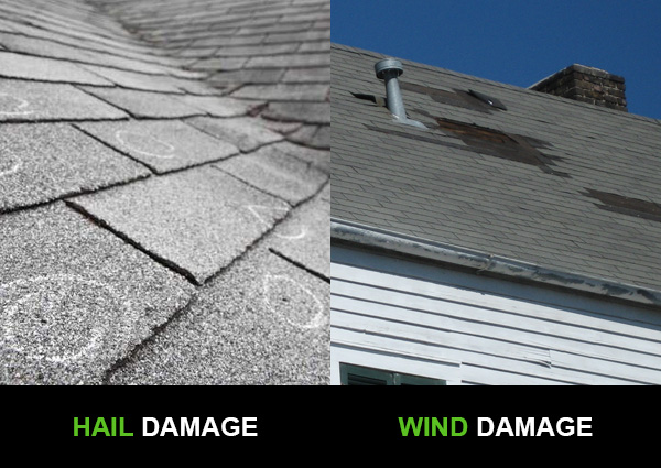 Hail Damage and Wind Damage